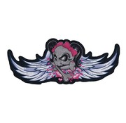 Lethal Threat Accessories biker patch - winged girl skull