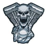 Lethal Threat Biker Patch - Motor SchÃĊdel