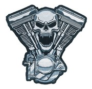 Lethal Threat patch Biker - CrÃḃne moteur
