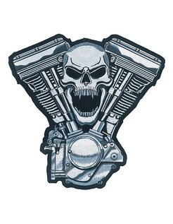 biker patch - engine skull
