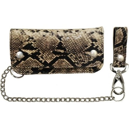 Heavy Leather Hand-Made Biker Wallet with Chain