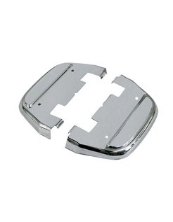 Controls passenger floorboard covers Chrome or black: Fits:> D-shaped floorboards only