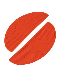 Controls floorboard pads Oval 40-84 FL - Red