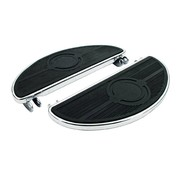 MCS floorboards, oval old style, 40-84 FL; Black or Chrome