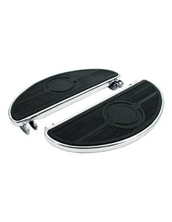 floorboards, oval old style, 40-84 FL; Black or Chrome