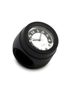 guidon monté horloge, noir ou chromé