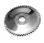 MCS rear chain sprocket solid, 73-85 4-SP Bigtwin; 79-81 XL