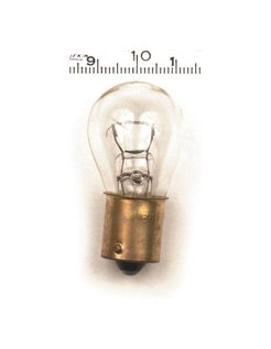 turnsignal bulb single filament, Clear; 12V
