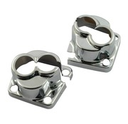 MCS Engine  tappet block covers Chrome Evo Fits:> 84-99