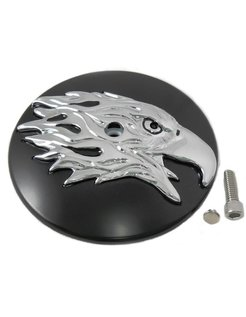 air cleaner Round Eagle Cover - Black