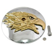 Wyatt Gatling air cleaner Round Eagle Cover - Gold
