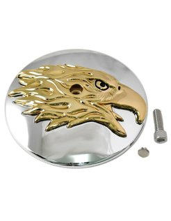 air cleaner Round Eagle Cover - Gold