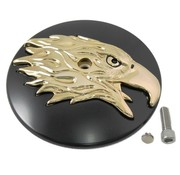 Wyatt Gatling air cleaner Round Eagle Cover Black-Gold