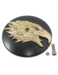 air cleaner Round Eagle Cover Black-Gold