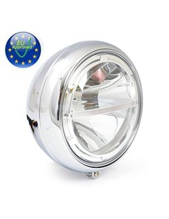 7 inch LED headlight, chrome