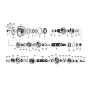 MCS transmission 5 speed gears 80-06 Shovelhead/Evo/Twincam Big Twins