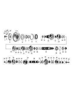 5-Gang Getriebe Zahnräder 80-06 Shovelhead/Evo/Twincam Bigtwins
