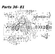 MCS transmission 5 speed parts 80-06 Shovelhead/Evo & Twincam Big Twin nr 36-81