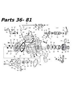 5-Gang Getriebeteile 80-06 Shovelhead / Evo & Twincam Bigtwin nr 36-81