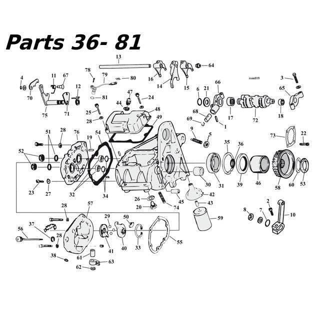 Harley Davidson Dyna Lower  V Twin Diagram