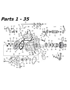 5-Gang Getriebe Teile 80-06 Shovelhead/Evo & Twincam Bigtwin nr 1-35