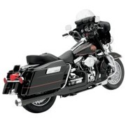 Bassani Harley exhaust HEAT SHIELDS BLACK FLH 2-1 ROAD RAGE 2-INTO-1 SYSTEMS