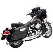 Bassani Harley exhaust HEAT SHIELDS CHROME FLH 2-1 ROAD RAGE 2-INTO-1 SYSTEMS