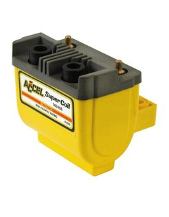 HEI SUPER COIL' 12V, 2.4.7 OHM. POINTS IGNITION - Black/Yellow/Chrome