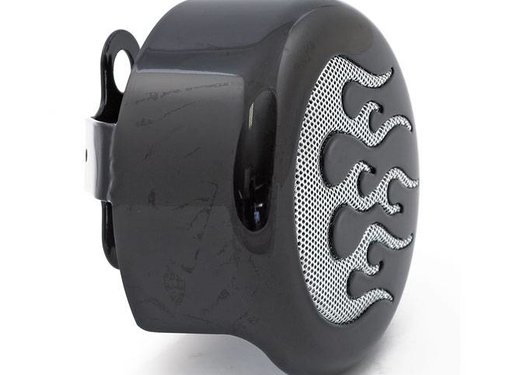 MCS Horn cover FLAME ROUND Chrome or black