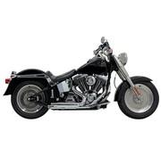 Bassani exhaust  Pro-Street Slash Cut Chrome/Black - Softail86-15