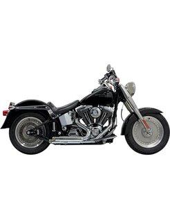 Exhaust Pro-Street Slash Cut Chrome/Black - Softail86-15