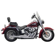 Bassani exhaust  Road Rage II Mega Power Chrome/Black - Softail86-15