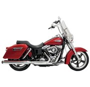 Bassani exhaust 4 inch  Slip-on Quick Change Mufflers Chrome - Fits:> 12-16 FLD