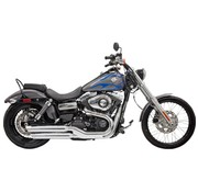 Bassani exhaust Slip-on Muffler 3 inch  Firepower Series Chrome/Polished - Fits:> 10‐17 FXDWG 08‐17 FXDF
