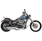 Bassani exhaust Slip-on Muffler 3 inch  Firepower Series Dyna Chrome - Fits:> 10‐17 FXDWG 08‐17 FXDF