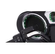 Harley audio Speaker Trim Grill lighted Chrome 14-up FLHT