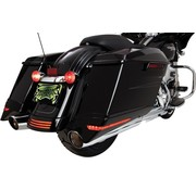 Saddlebag Extensions black led lighted 14-up FLH/T