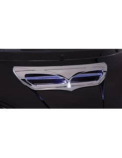 trim fairing Chrome/Black 14-up FLH/T - Lighted