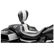 Le Pera seat   Outcast GT Full Length Diamond with backrest 08-16 FLH/FLT