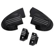 handlebars master cilinder cover (without mirror) - black 14-16 FL Touring FLH/FLT