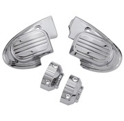 handlebars master cilinder cover (with mirror) - Chrome 14-16 FL Touring FLH/FLT