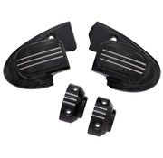 handlebars master cilinder cover (with mirror) - black 14-16 FL Touring FLH/FLT