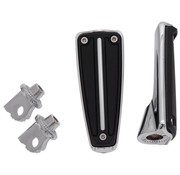 Controls Footpegs RAIL with mount female clevis - Chrome/Black