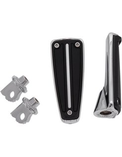 Footpegs RAIL with mount female clevis - chrome/Black