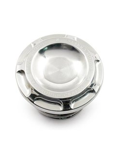 Groove gas cap - polished 96-16 H-D Sportster