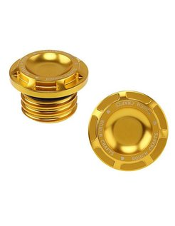 Groove gas cap - Gold 96-16 H-D Sportster