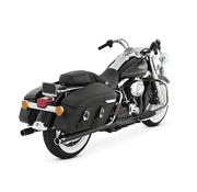 Vance and Hines exhaust  Touring FLH/FLT Big Shots Duals 2 into 2 - Black