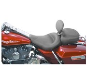 Mustang seat solo  Wide Touring Smooth with Driver Backrest FLHR/FLHX