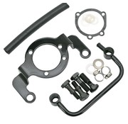 TC Choppers soporte de apoyo - Negro; cabe CV Carburador (Evo) y Delphi inyección (TwinCam)