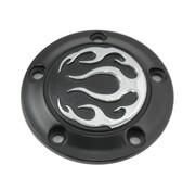 Wyatt Gatling Engine  Black 5-hole flame point cover